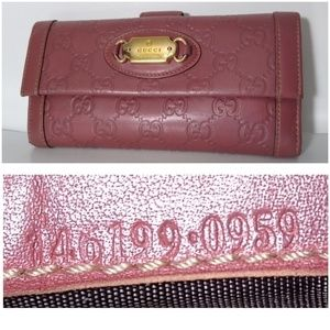 Authentic Gucci Guccissima Long Leather Wallet